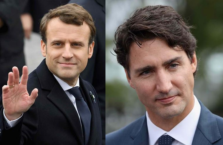 Emmanuel Macron and Justin Trudeau hottest politicians
