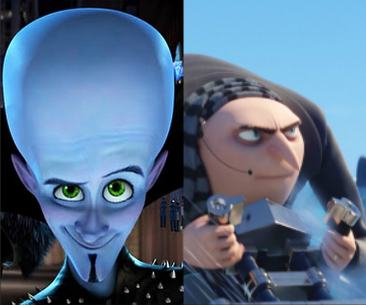 Despicable Me Megamind Twin Movies