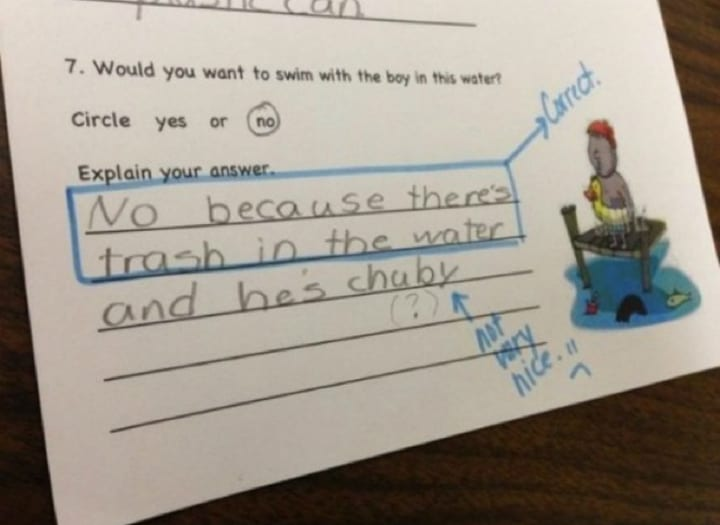 These Funny Test Answers By Kids Are Too Clever To Be Wrong