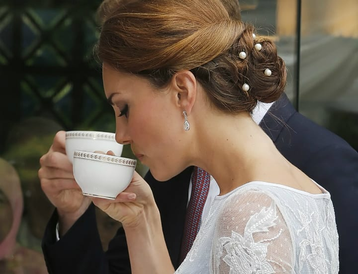 Buckingham Palace - Kate Middleton Holding a Teacup