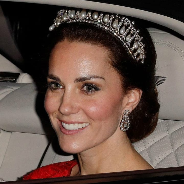 Buckingham Palace - Kate Middleton Wearing a Tiara