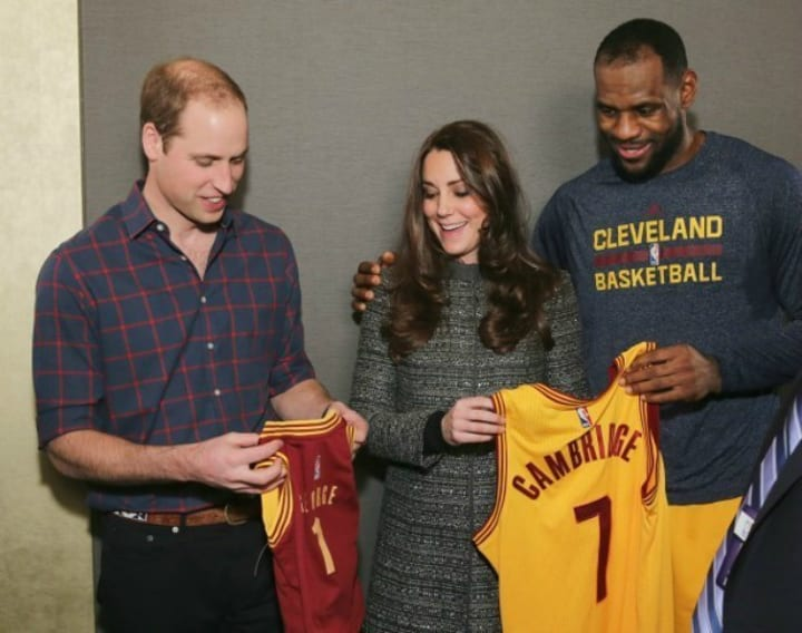Buckingham Palace - LeBron James Putting His Arm Around Kate Middleton