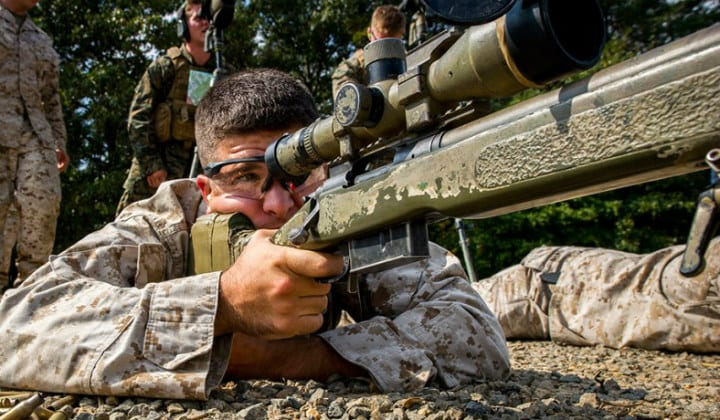 US Army Military Training - Marine Scout Sniper School