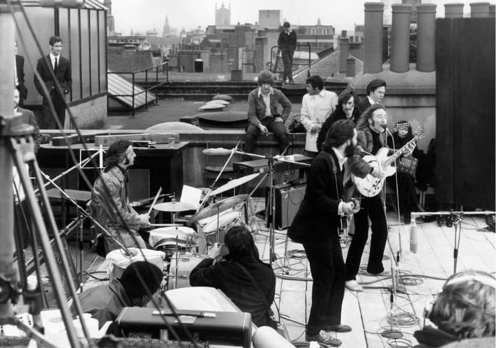 The Beatles Last Performance - Rock and Roll Photos of Musicians