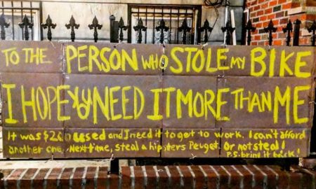 Inspiring Message To Bicycle Thief