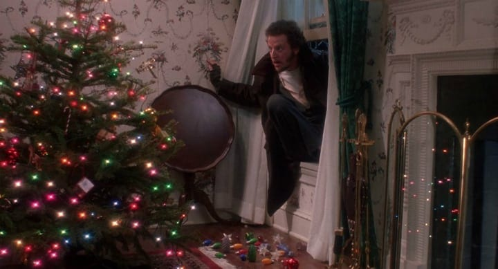 Marv Merchants Stepping on Christmas Ornaments - Home Alone