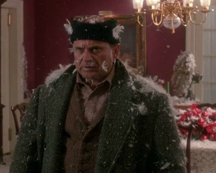 Harry Lime Covered in Feathers - Home Alone
