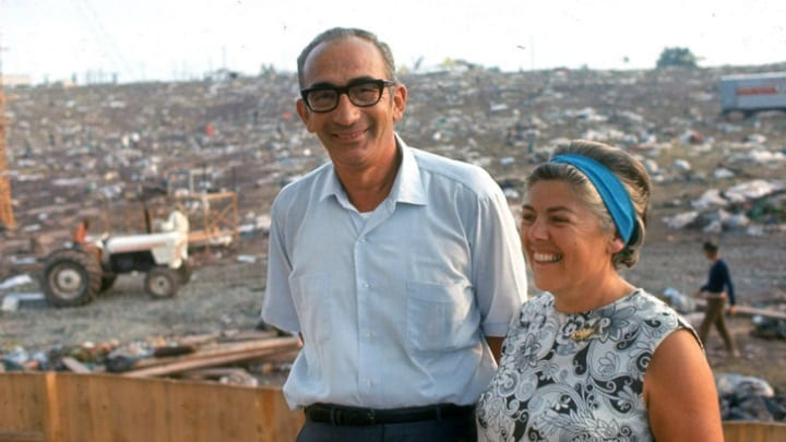 Yasgur and His Wife at Woodstock