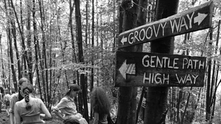 Directional Signs at Woodstock