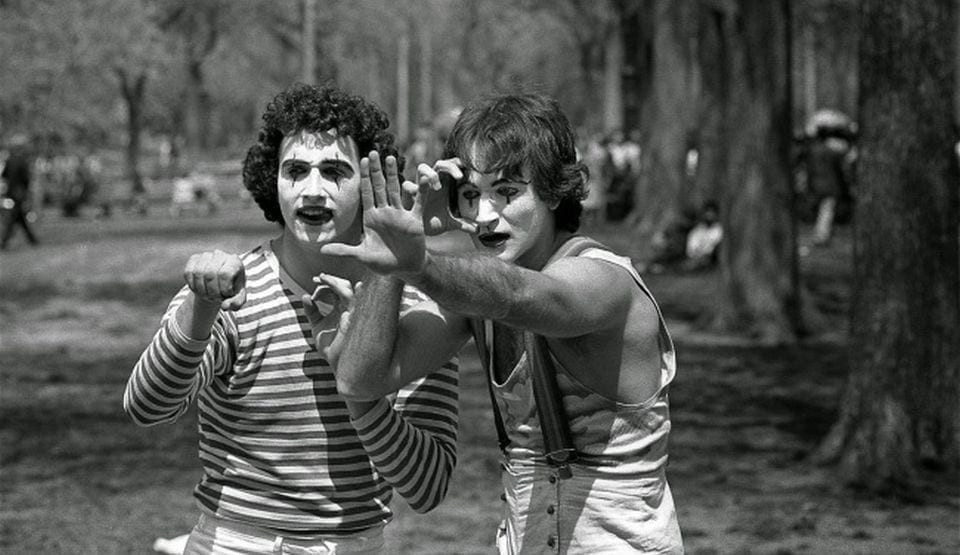 robin williams miming mime old historical photos