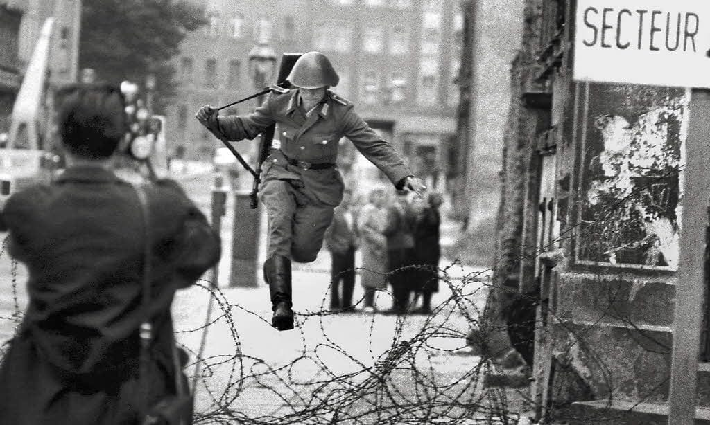 cold war east berlin germany wall historical photos
