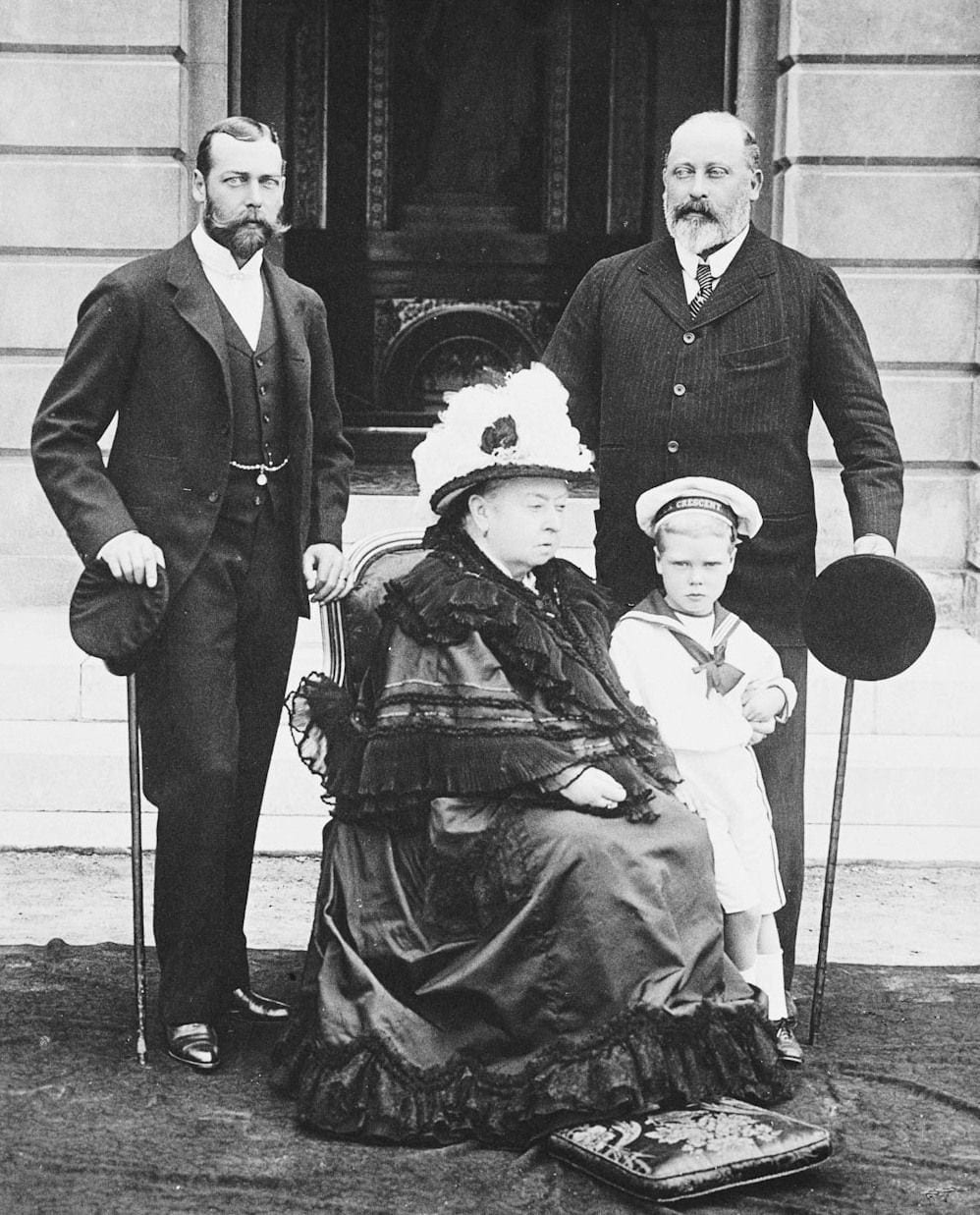queen victoria king edward vii king george v king edward viii british royal family royalty historical photos