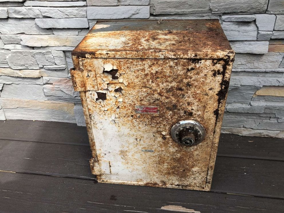 mysterious safe discovered in backyard